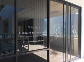 Gonzalez & Goetz office entrance